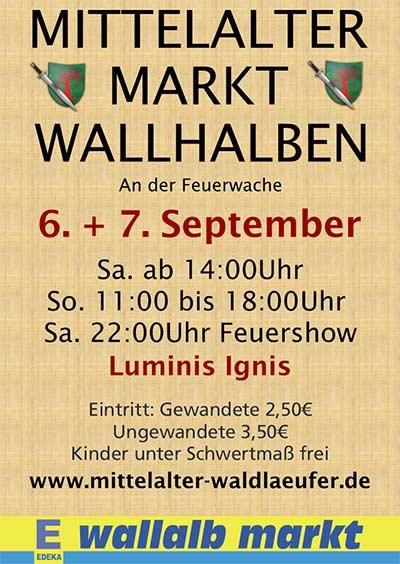 Mittelatermarkt-Wallhalben-Plakat